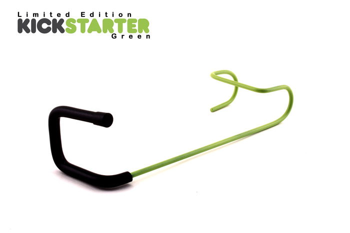 Add $3 per hanger to get any or all of your hangers in Kickstarter Green!