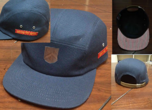 5 panel Going for Gold hat