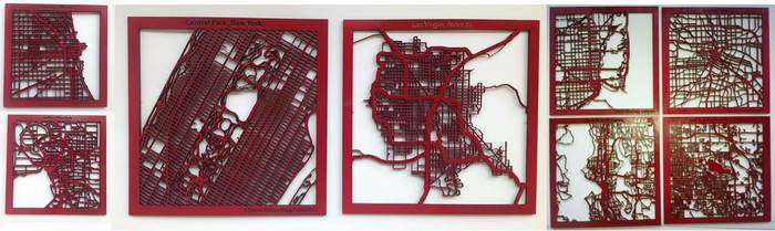 Maps come in other colors, but I always start with red. Here's a few of the cities I've developed.