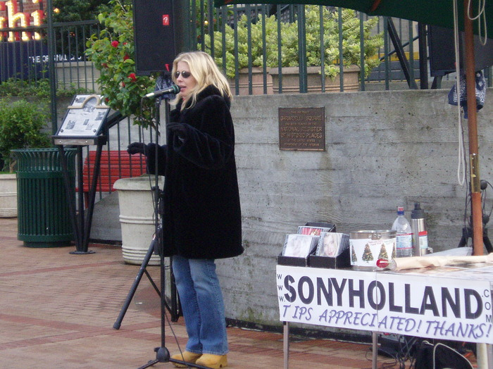 Busking at Ghirardelli Square