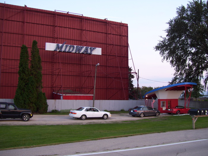 The Midway Drive-In screen in Dixon, IL