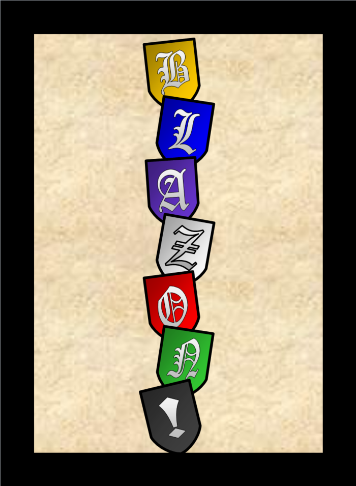 The current Blazon! logo (and card back)