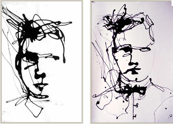 Paul Richard: 'Drip' Self Portraits