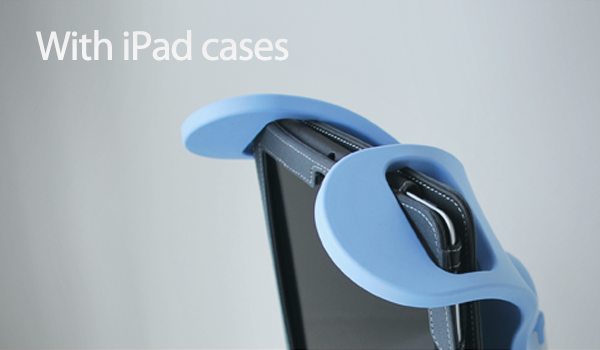 Manatee is also designed to hold iPads even with the case attached. Manatee supports almost all cases. Approximate dimensions of supported iPad cases: Height:250mm(10in), Width:200mm(8in), Thickness:30mm(1.2in)