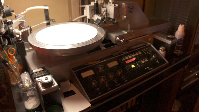 Infrasonic's vinyl cutting lathe