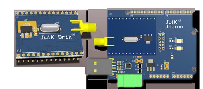 JwiK Brik™ Module and JwiK™ Jduino Carrier Board