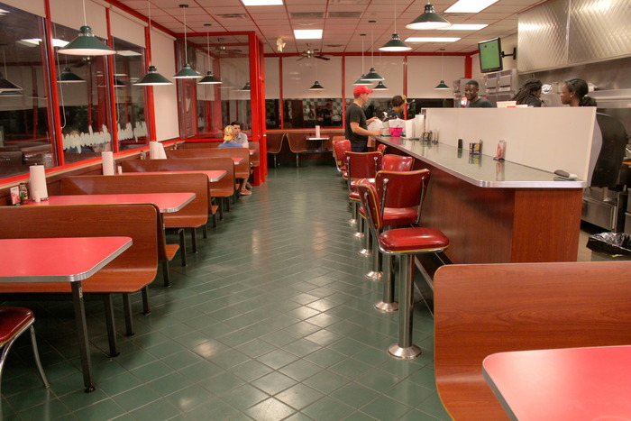 The diner where Sarah Beth is a waitress