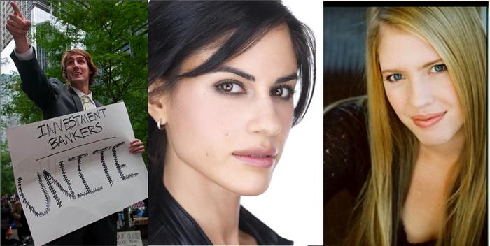 A cast of comedians! Jason Selvig, Ana Kayne, and Lyle Friedman.