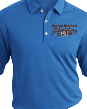 Peaden Brothers Distillery Embroidery Nike Dri Fit Shirt