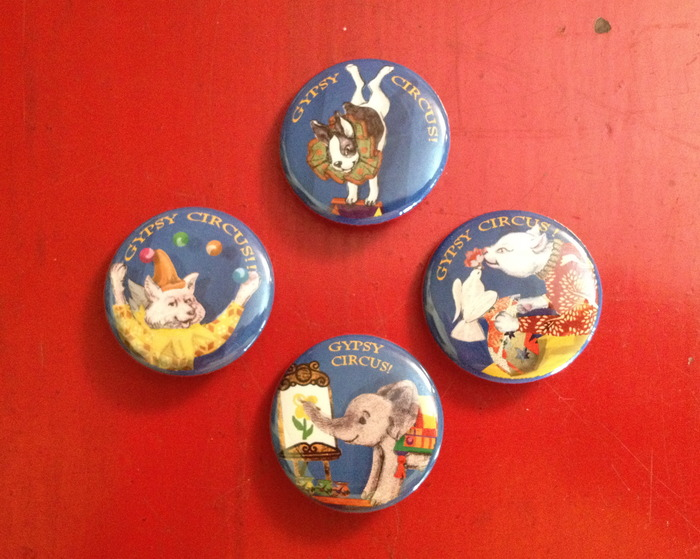Our four different badges of THANKS! Buttons are so much fun!