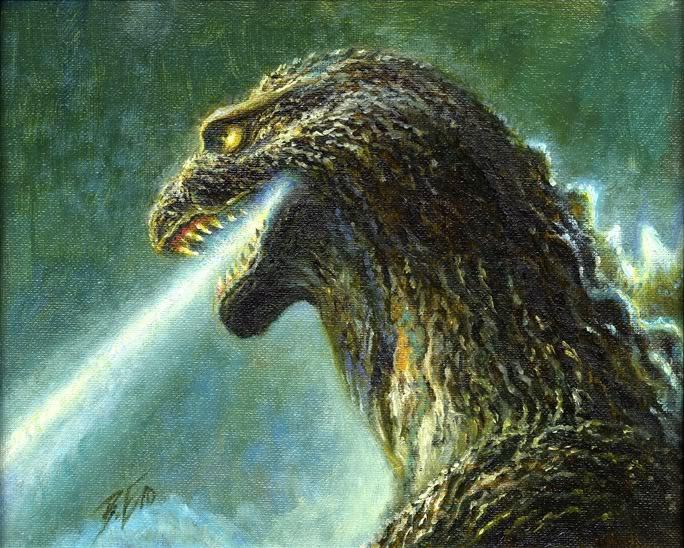 Godzilla image by Bob Eggleton