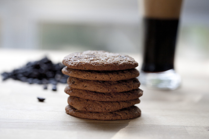 Coffee Stout beer cookie- Photo by Valerie Fischel