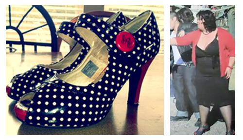 """PICTURE 4: ONLY 1 AVAILABLE! SHE'S SHOES FROM THE """"LOVE MACHINE"""" VIDEO, IN GREAT CONDITION, WOMEN'S SIZE 8"""