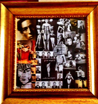 """PICTURE 7: ONLY 1 AVAILABLE! CUSTOM MADE ARTWORK CREATED BY SHE, 17"""" x 17"""" W/ GOLD COLORED FRAME"""
