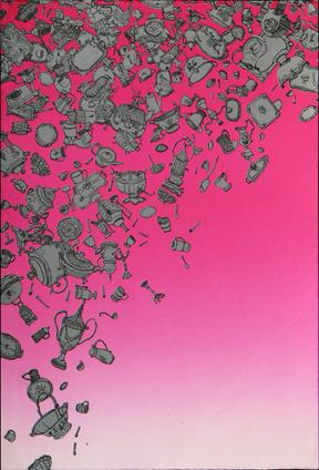 "Andrew Koslowski, ""The Silver Collection"" Silkscreen, 22"" x 15"""