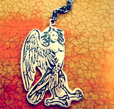 PICTURE 1: ONLY 1 AVAILABLE! THE ONE AND ONLY SIREN NECKLACE EVER PRINTED - FROM GOD-DES & SHE'S LOGO!