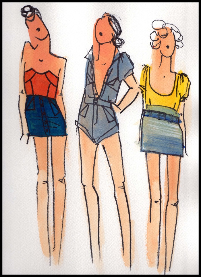 Fashion Illustration Print by Meredith Robinson.