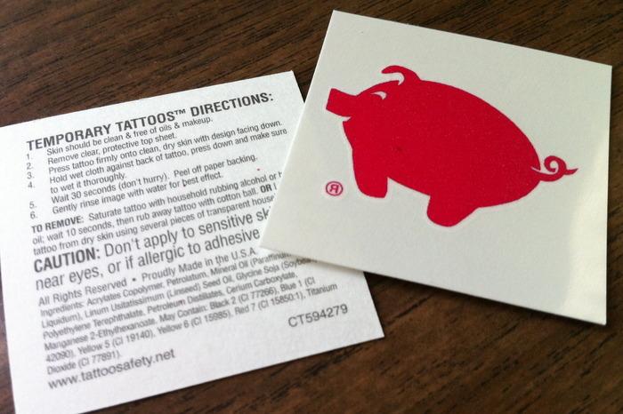 Hooray for Red Piggy Temporary Tattoos!