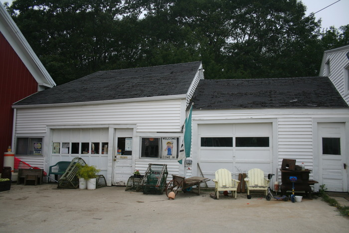 Our current farm stand only occupies the left side garage, the right side currently is used for storage.