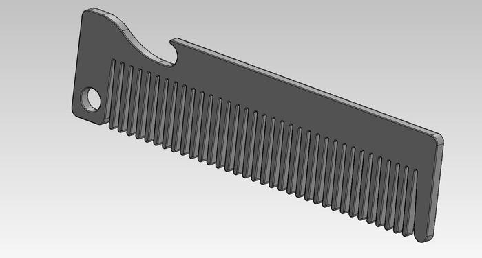 Old Familiar Comb 3D Rendering