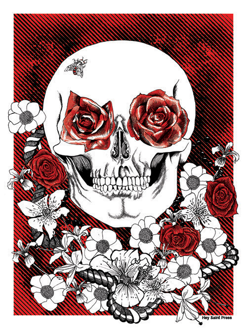 "Elmer Ramos, ""Sacrificio"", 2 color Screen Printed poster, 18x24"""