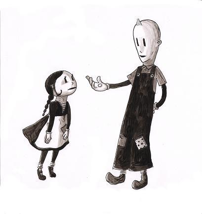 Character designs for Hansel and Gretel by Lyon Hill