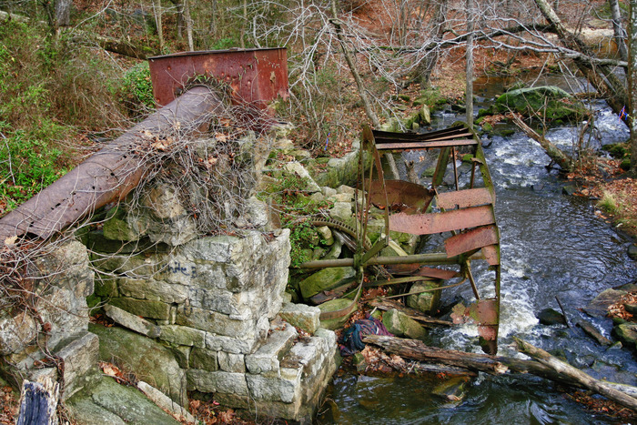 Sometimes after weeks of searching all you find are the rusted out remains of a mill destroyed by fire or flood.....