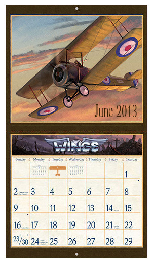 Prize: Wings calendar (artistic rendition, subject to change)