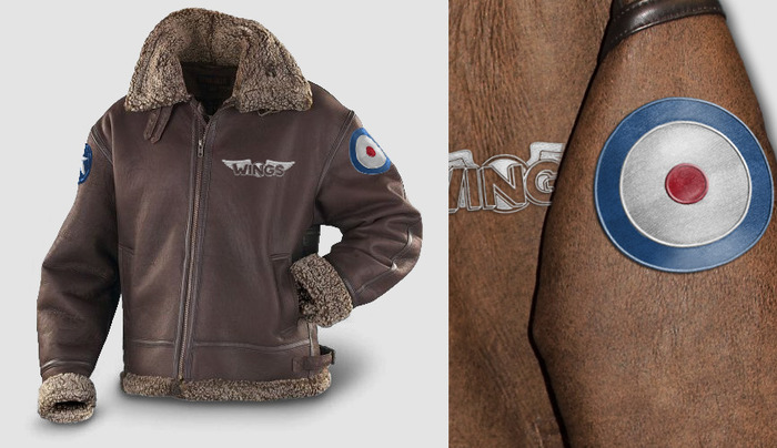 Prize: Wings aviator leather jacket (artistic rendition, subject to change)