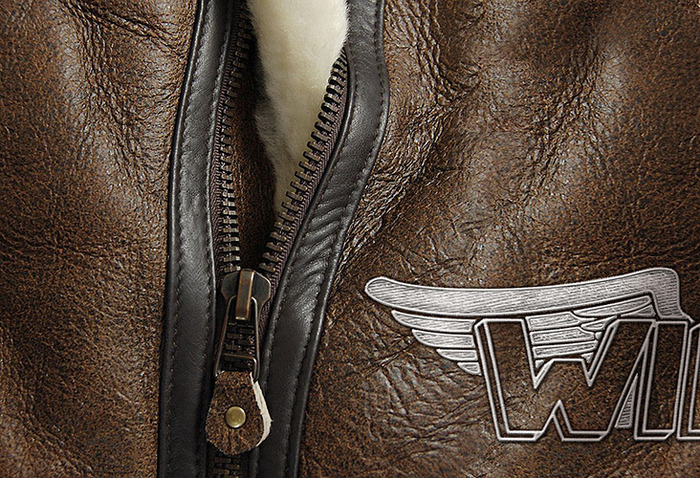 Prize: aviator leather jacket detail (artistic rendition, subject to change)
