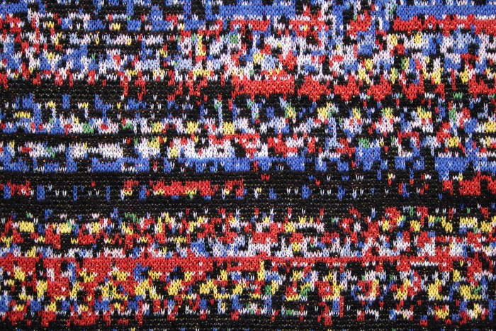 Machine knit image from a prepared Kodak digital camera.