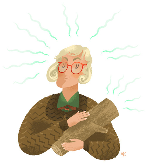 What Are You Thinking Of, Log Lady? - giclée print