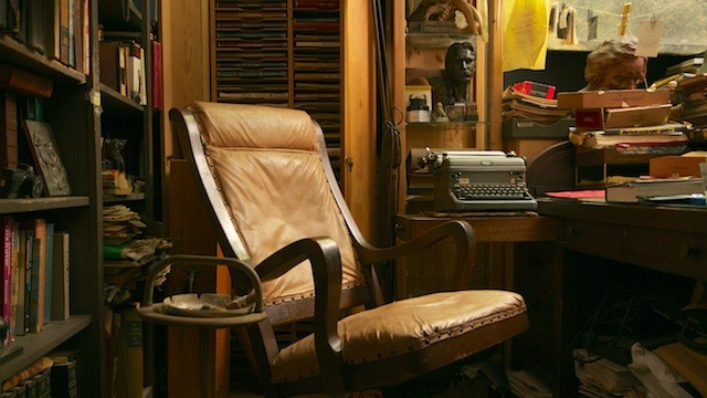 """Sam's office, a place he liked to call """"the shack"""""""