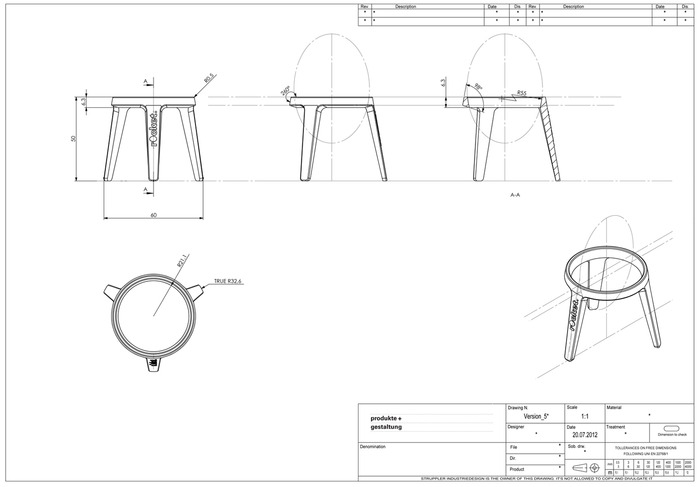 CAD drawing for the toolmaker