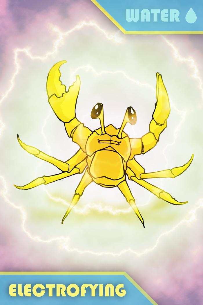 electrofying crab