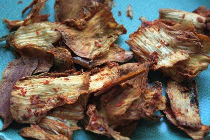 Cracklin' kimchi, a crunchy, savory snack