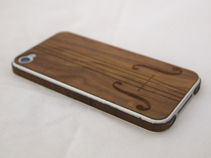 Pictured: A sample of our iPhone 4/4S skin with a custom design.