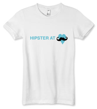 Hipster at Heart Women's T-shirt (available in white)