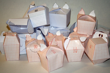 First paper origami models