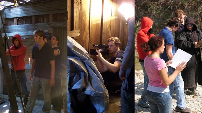 Writer / Director Dewey Taylor on set