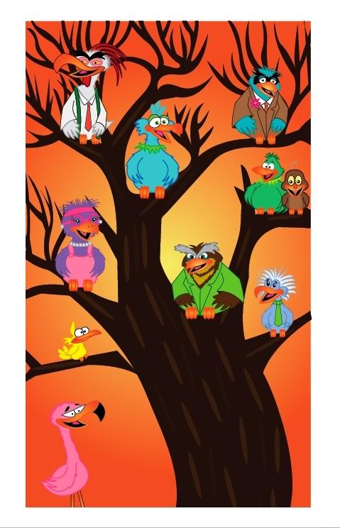 """Perched Birds"" by Ashley Taylor"