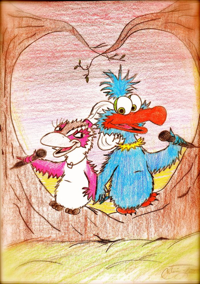 Love Birds, Luckl and Ki-Ki by Calvin Lester