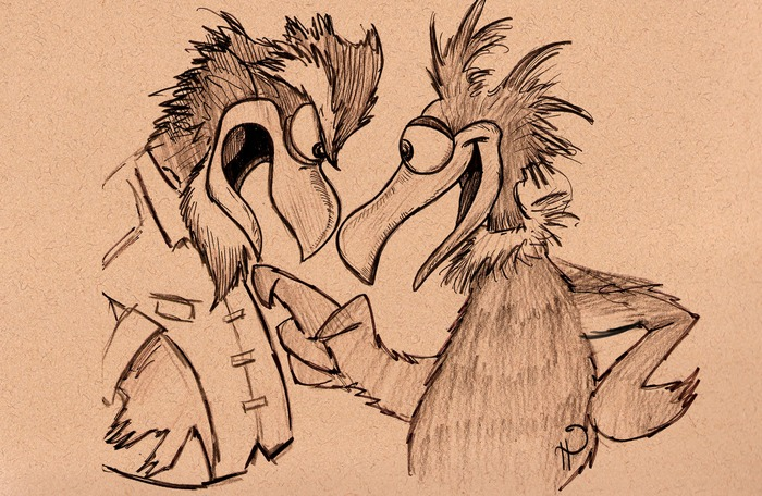 Luckl and Fowl Owl - by Chris Heady