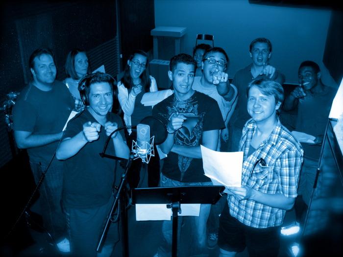 "Cast recording ""One Day War"" - photo taken by Tommy Schwanfelder"