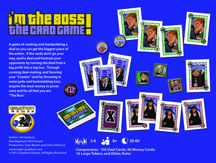 I'm the Boss The Card Game box back