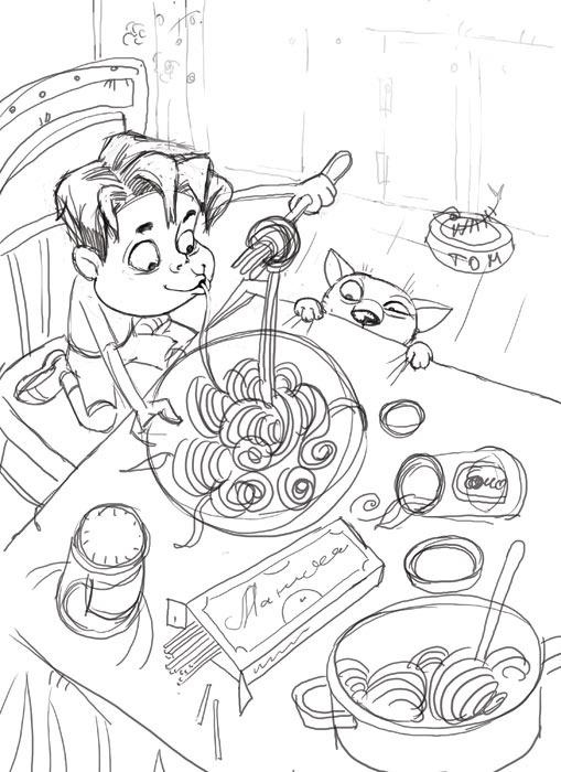 Design sketch, page 1.