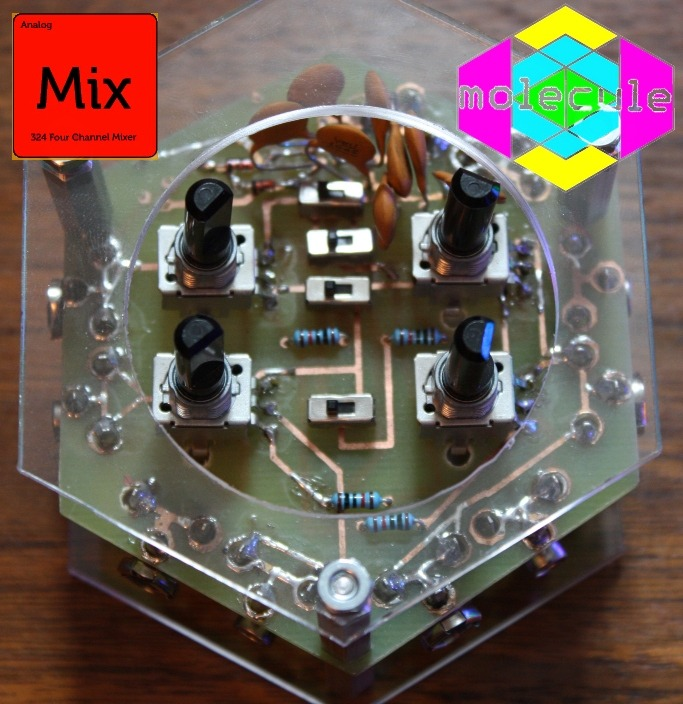 This was our prototype mixer, now it is included on the Spkr/Amp hex