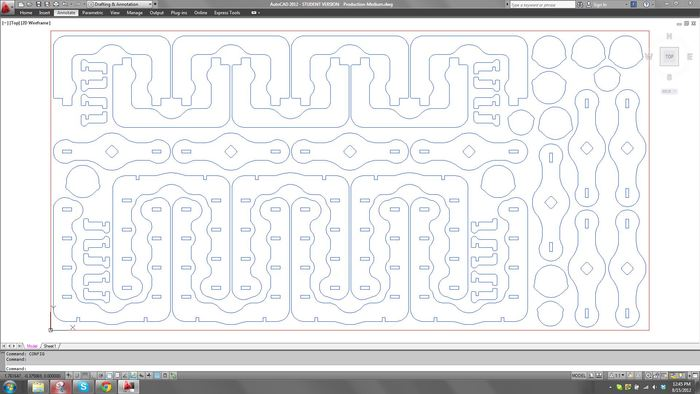 Computer Aided Design (CAD) laser cutting template