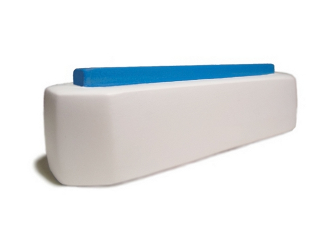 White base and blue connector