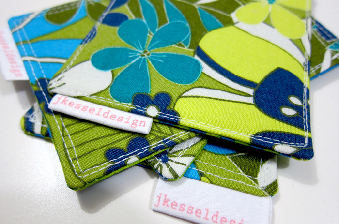 $25.00 backer prize! Sewn fabric coasters! Pack of 4 GREAT for the Eco friendly donor!